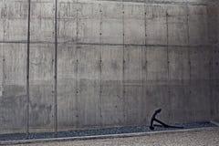 Metallischer Wandhintergrund der Beschaffenheitsschmutzstraße Lizenzfreies Stockbild