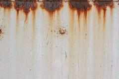 Metallischer weißer Hintergrund mit Rost Stockfotos