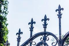 Metallischer Zaun der Weinlese Lizenzfreies Stockbild