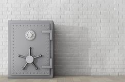 Metallisches Bank-Safe Wiedergabe 3d Lizenzfreies Stockfoto