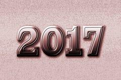 Metallisches BronzeDesign von 2017 Lizenzfreies Stockfoto