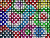 Metallisches gesponnenes Muster Stockfoto