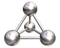 Metallisches Kristallgitter auf weißem Hintergrund Lizenzfreie Stockbilder