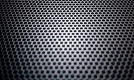metallisches Maschenteil des Mikrofons und des Lautsprechers Stockbild