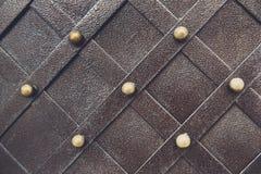 Metallisches Muster der Weinlese Dekorative karierte Elemente Lizenzfreies Stockbild