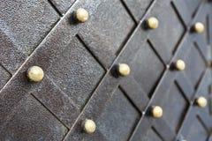 Metallisches Muster der Weinlese Dekorative karierte Elemente Stockfoto
