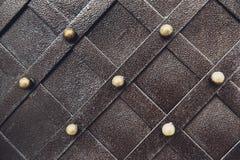 Metallisches Muster der Weinlese Dekorative karierte Elemente Lizenzfreie Stockfotos