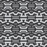 Metallisches nahtloses Muster Lizenzfreie Stockfotografie