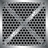 Metallisches Rasterfeld Lizenzfreies Stockbild