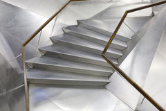 Metallisches Treppenhaus Stockfotografie