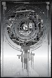 metallisk abstrakt bakgrund Royaltyfria Foton