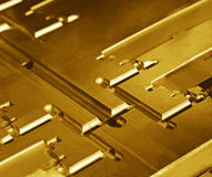 metallisk abstrakt guld Royaltyfri Foto