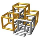 metallisk abstrakt konstruktion Fotografering för Bildbyråer