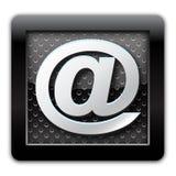 metallisk adresssymbol Arkivfoton
