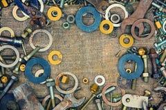 Metallisk bakgrund för abstrakt grunge Arkivbilder