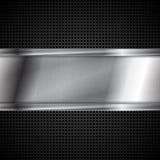 Metallisk bakgrund för abstrakt tech Royaltyfria Bilder