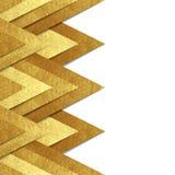Metallisk bakgrund för guldpappersgräns Arkivbild