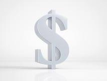 Metallisk dollarsymbol Arkivbilder