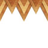 Metallisk för pappersgräns för gammal guld bakgrund Arkivbild