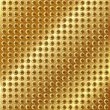 Metallisk guld- bakgrund med skruvar Royaltyfria Foton