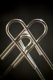 metallisk hjärta Royaltyfri Fotografi