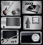 metallisk musik för baner Royaltyfri Fotografi