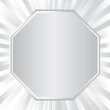 Metallisk oktogon och radie för bakgrund, vektorillustration vektor illustrationer