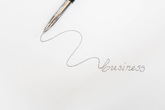Metallisk penna som isoleras på vit bakgrund Royaltyfria Bilder