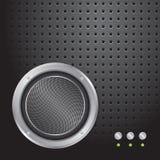 metallisk perforerad högtalare för ljudsignal bakgrund vektor illustrationer