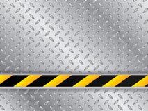 Metallisk plattabakgrund med den randiga industriella linjen stock illustrationer