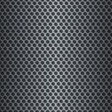 Metallisk rasterbakgrund för silver Arkivfoto