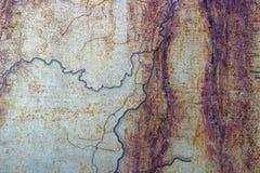 Metallisk rostad målad yttersida som abstrakt bakgrund Arkivbilder