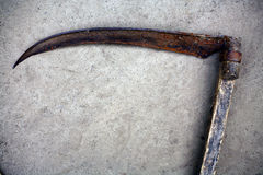 Metallisk scythe Arkivfoton