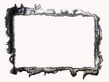 metallisk silver för ram Royaltyfri Foto