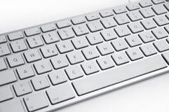 metallisk silver för tangentbord Arkivbilder