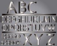 metallisk stil för alfabet arkivbilder