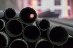 Metallisk svart rörcloseup Arkivbild