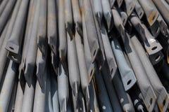 Metallisk svart rörcloseup Arkivbilder