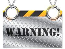 metallisk teckenvarning stock illustrationer
