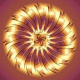 Metallisk textur för abstrakt cirkel Royaltyfri Bild