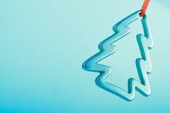 metallisk tree för jul Arkivfoto