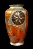metallisk vase Arkivfoton
