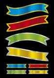 metallisk vektor för baner vektor illustrationer