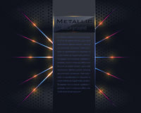 Metallisk vektorbakgrund Arkivfoto