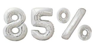 Metalliska ballonger för femtiofem procent krom Arkivbilder