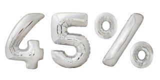 Metalliska ballonger för fyrtiofem procent krom Arkivbild