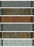 metalliska baner Royaltyfri Fotografi