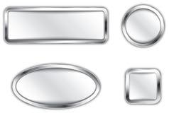 Metalliska knappar Royaltyfria Bilder