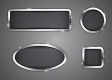 Metalliska knappar Fotografering för Bildbyråer