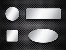 Metalliska knappar Arkivfoton